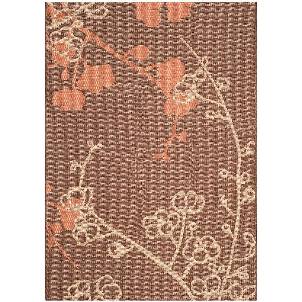 Safavieh Courtyard Emerson Brown Natural / Terracotta 4 ft. x 5 ft. 7-inch Indoor Area Rug