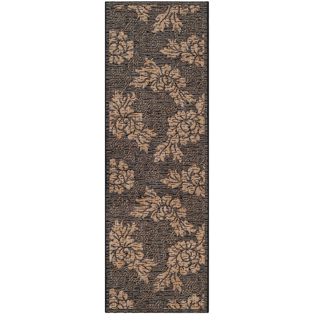 Safavieh Courtyard Cemal Black / Natural 2 ft. 7-inch x 8 ft. 2-inch Indoor Runner