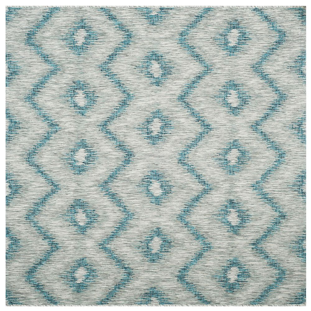 Safavieh Courtyard Wilfred Grey / Blue 6 ft. 7-inch x 6 ft. 7-inch Square Indoor Area Rug