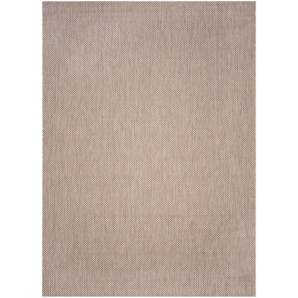 Safavieh Tapis d'intérieur/extérieur, 8 pi x 11 pi, Courtyard Neal, beige / brun
