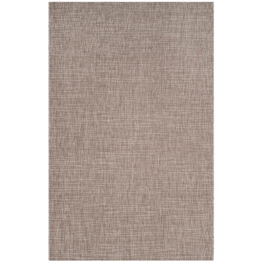 Safavieh Tapis d'intérieur/extérieur, 5 pi 3 po x 7 pi 7 po, Courtyard Fedelma, brun clair