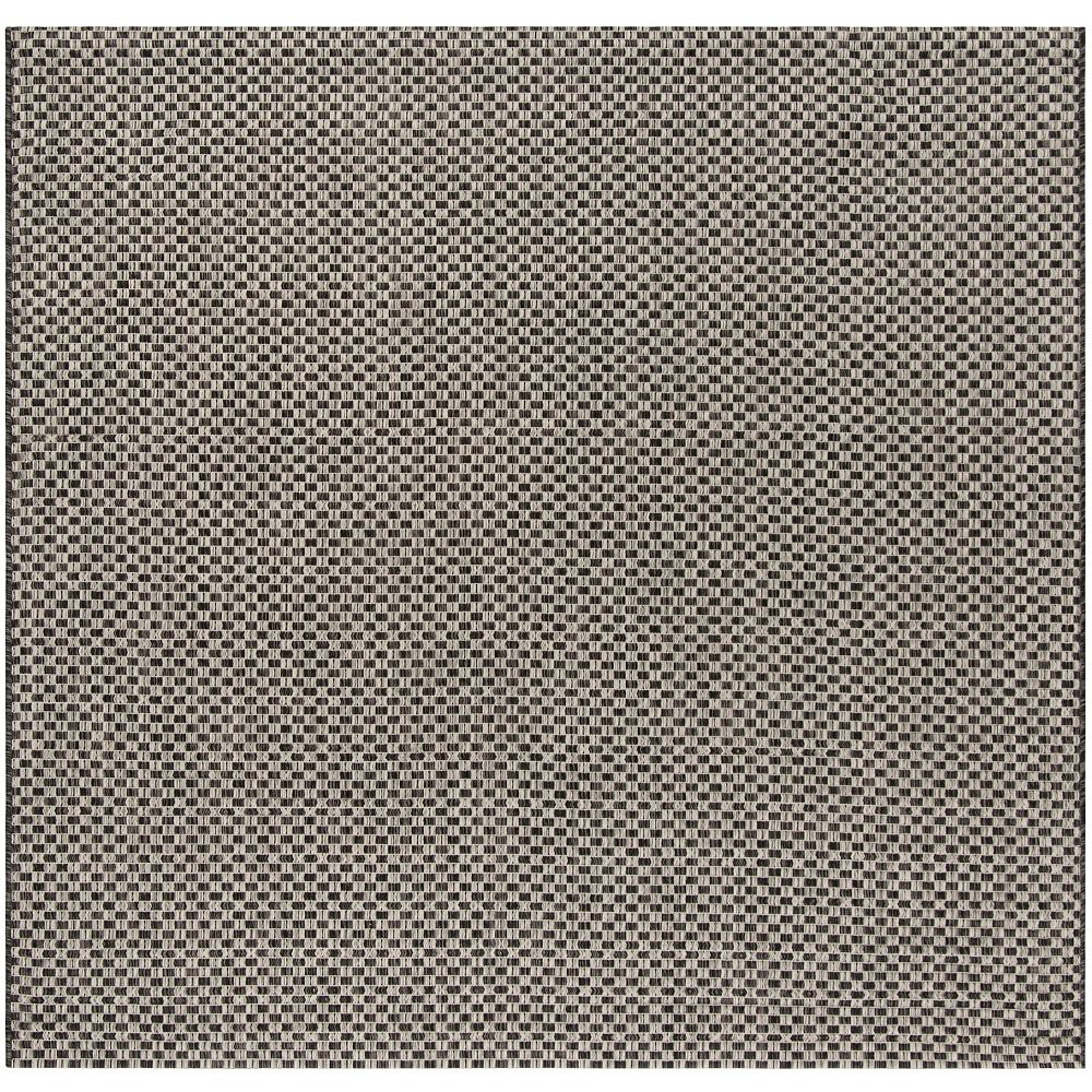 Safavieh Courtyard Maxwell Black / Light Grey 6 ft. 7-inch x 6 ft. 7-inch Square Indoor Area Rug