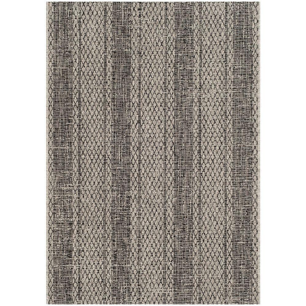 Safavieh Courtyard Quintella Light Grey / Black 4 ft. x 5 ft. 7-inch Indoor Area Rug