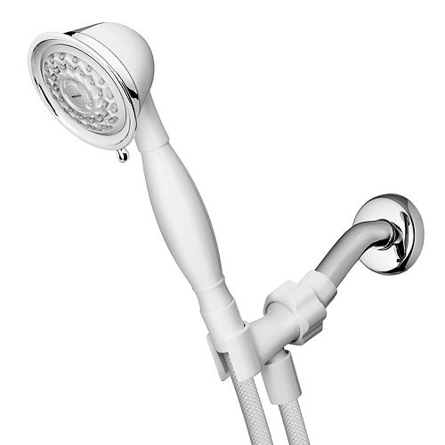 3 Spray PowerSpray Hand Held Shower Head in White