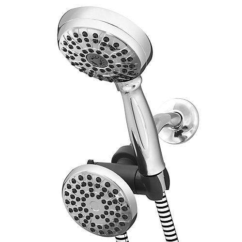 8 Spray PowerSpray Dual Shower Head in Chrome