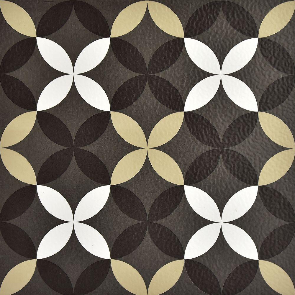 FloorPops Carreau en vinyle autocollant, motif trèfle, 12 po x 12 po, 20 pi2/boîte