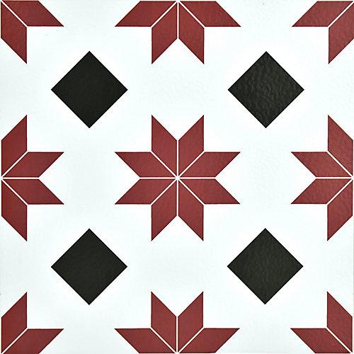 Plancher en feuilles adhésives, vinyle de luxe, 12 po x 12 po, Orion, 20 pi2/boîte