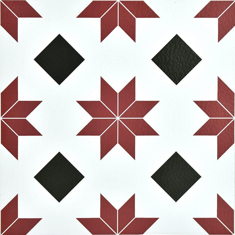 FloorPops Carreau en vinyle autocollant, motif Orion, 12 po x 12 po, 20 pi2/boîte