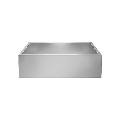 PRECISION DURINOX SUPER SINGLE, Large Farmhouse Kitchen Sink, Premium Stainless Steel