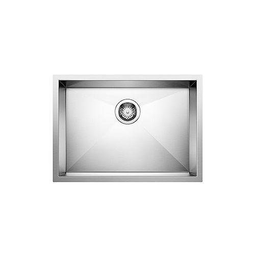QUATRUS U 1 MEDIUM ADA, Undermount Kitchen Sink, Stainless Steel