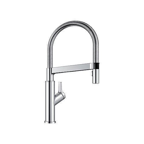 SOLENTA SENSO, Hands-free Semi-pro Pull-down Kitchen Faucet, 1.5 GPM (Dual-spray), Chrome
