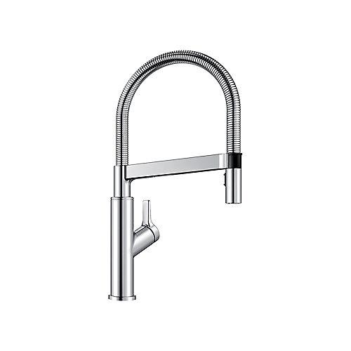SOLENTA Semi-Pro High Arc Kitchen Faucet, Chrome