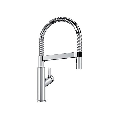 SOLENTA, Semi-professional Pull-down Kitchen Faucet, 1.5 GPM flow rate (Dual-spray), Chrome