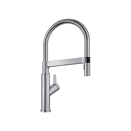 SOLENTA Semi-Pro High Arc Kitchen Faucet, Stainless Finish