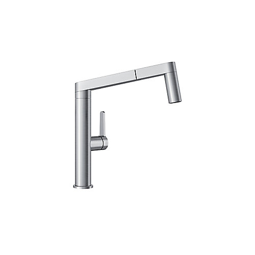 PANERA Low Arc Pull-Out Dual Spray Faucet, Stainless Steel