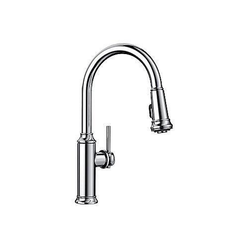 EMPRESSA Pull-down High Arc Kitchen Faucet, Chrome