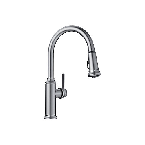 EMPRESSA Pull-down High Arc Kitchen Faucet, Stainless Finish