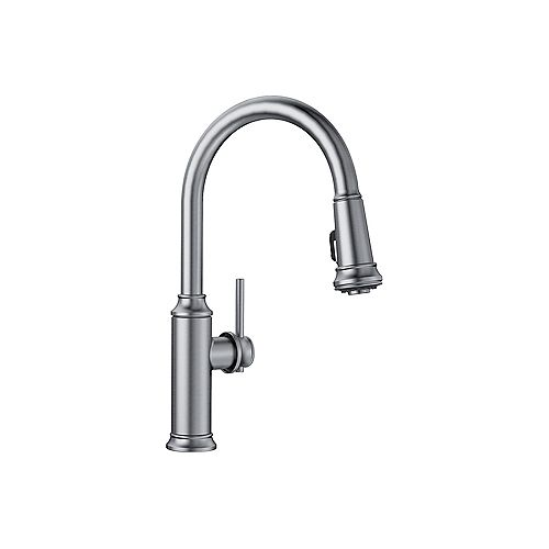 EMPRESSA HIGH-ARC, Pull-down Kitchen Faucet, 1.5 GPM flow rate (Dual-spray), Stainless Finish