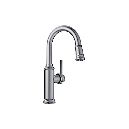 EMPRESSA Pull-down Bar/Prep Faucet, Stainless Finish