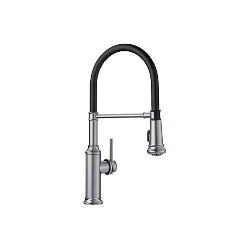 EMPRESSA SEMI-PRO, Pull-down Kitchen Faucet, 1.5 GPM flow rate (Dual-spray), Stainless Finish