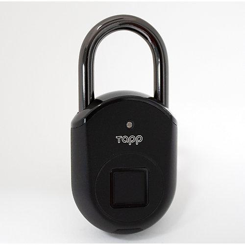 Lite Smart Fingerprint Scanning Bluetooth Rechargeable Biometric Padlock - Ash Black