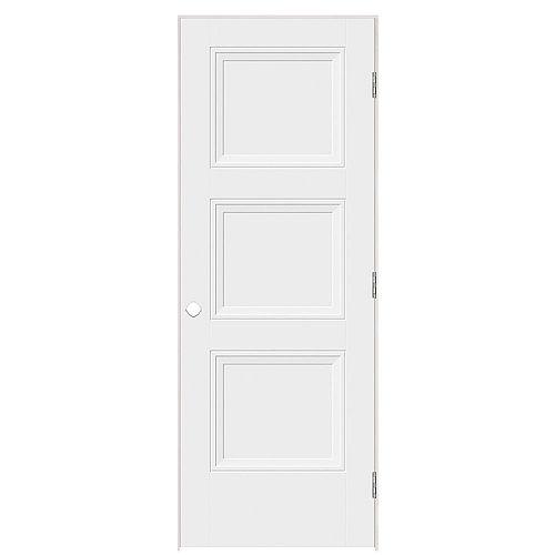Porte Livingston droite de 30 pouces x 80 pouces, pré-pendue à l'intérieur