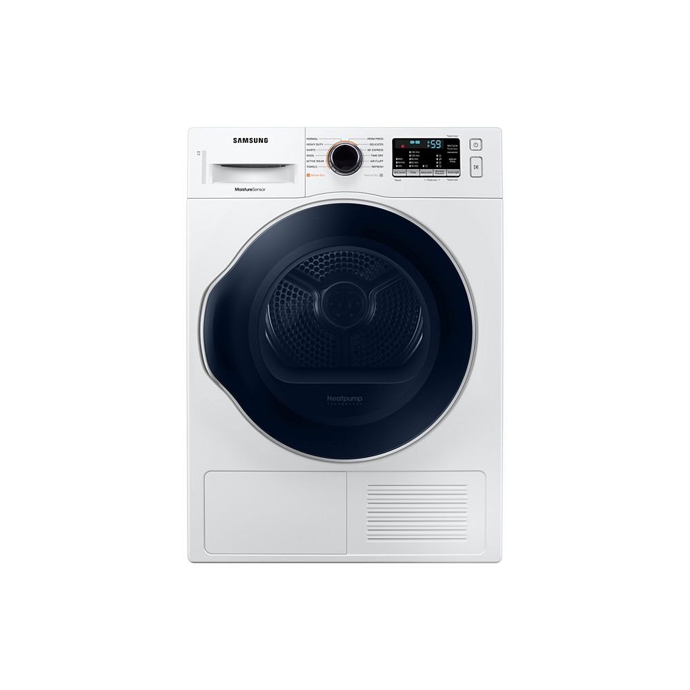 Samsung 4.0 cu.ft. Compact Front Load Ventless Electric Dryer in White