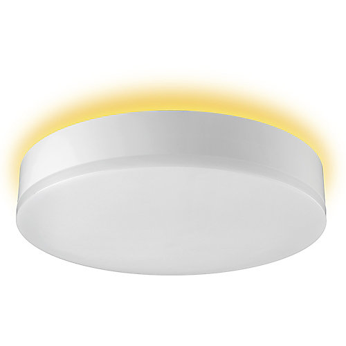11-inch 900 Lumens White 2000K-5000K Selectable Integrated LED Flush Mount with Night Light Accent Feature