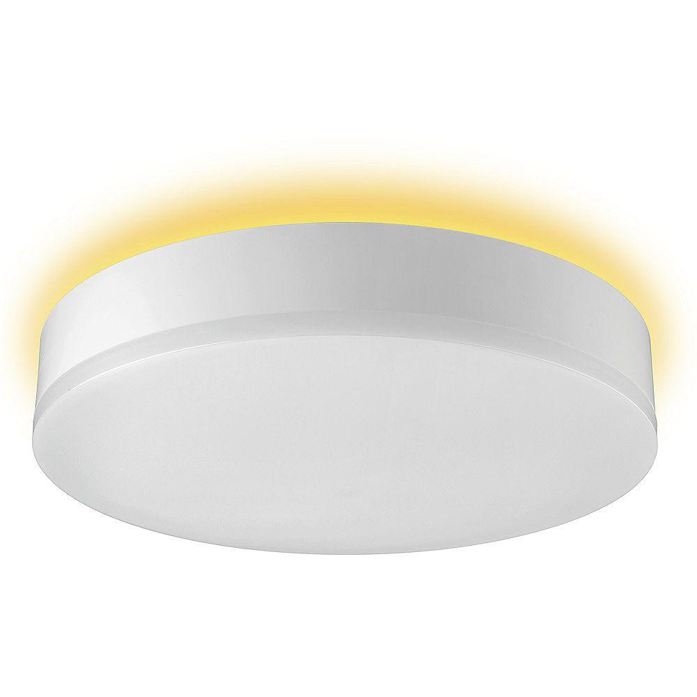 Commercial Electric Plafonnier à DEL intégré avec veilleuse, 900 lumens, réglable de 2 000 à 5 000 K, 11 po, blanc