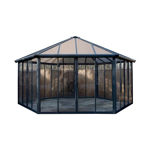 Garda Closed Gazebo with Screen Doors