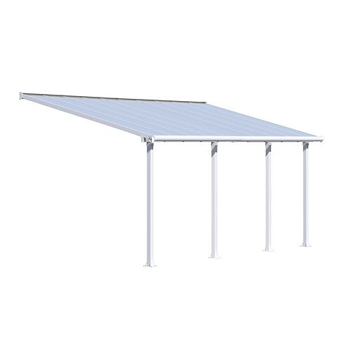 Palram Olympia Patio Cover System 10 ft. x 20 ft. - White