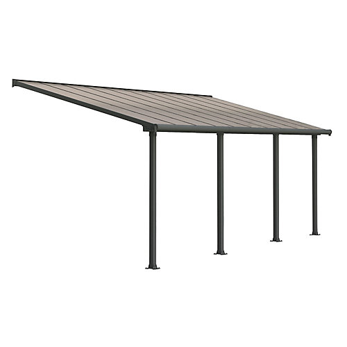 Olympia Patio Cover System 10 ft. x 20 ft. - Grey