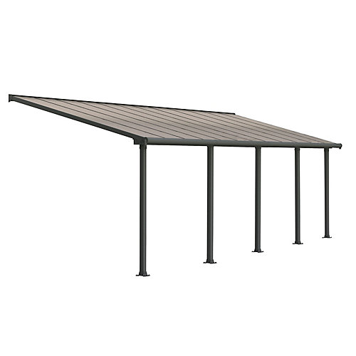 Olympia Patio Cover System 10 ft. x 24 ft. - Grey