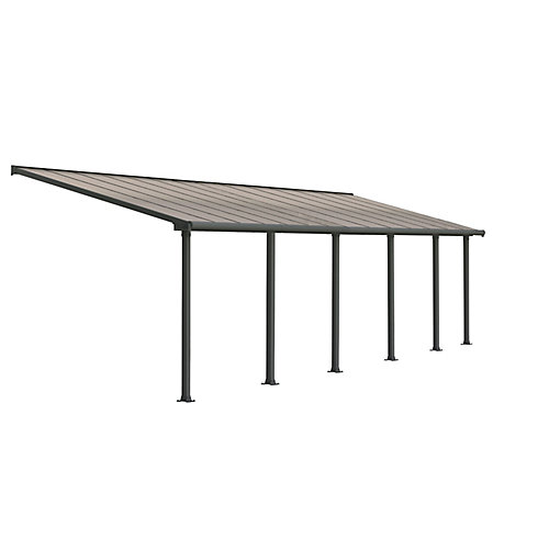 Olympia Patio Cover System 10 ft. x 28 ft. - Grey