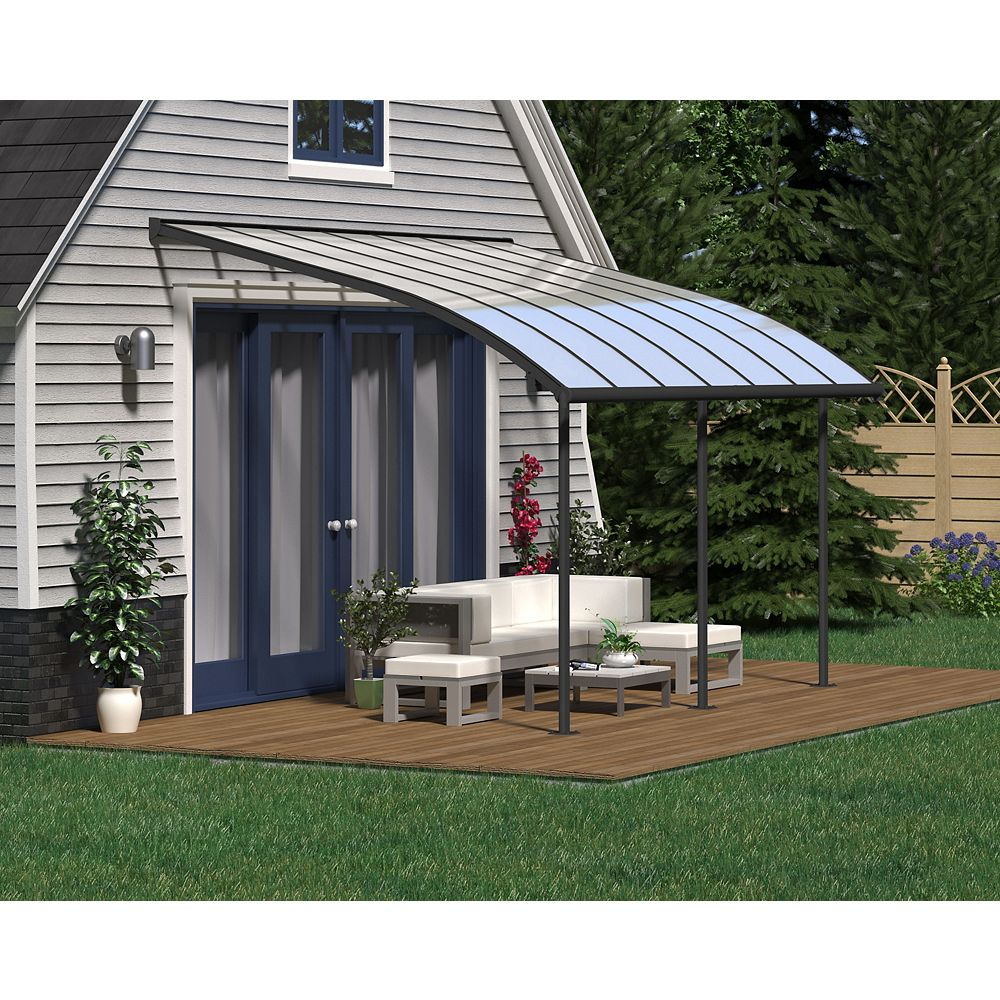 Palram Joya Patio Cover System 10 ft. x 14 ft. - Grey