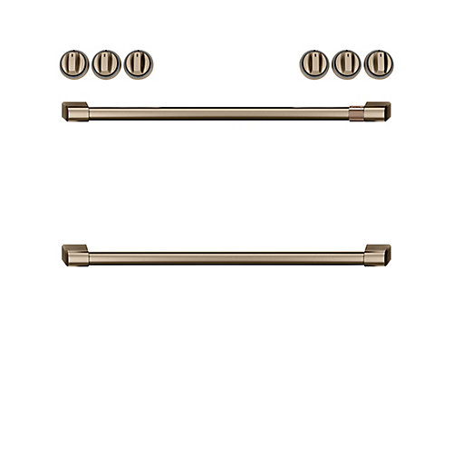 44-inch Front Control Electric Knobs and Handles in Brushed Bronze (8-Piece)