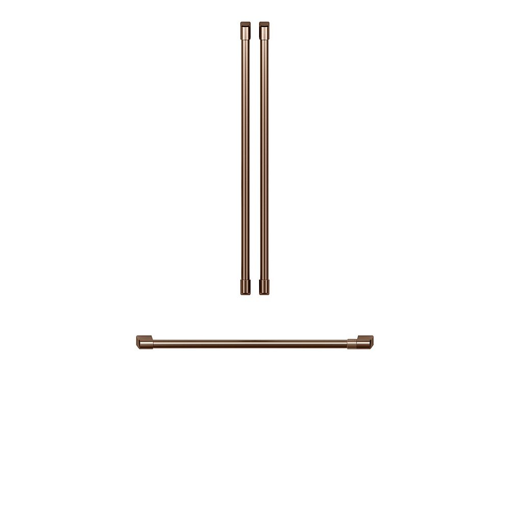 Café Refrigerator handle kit in Brushed Copper (3-Piece) for 36-inch Refrigerators