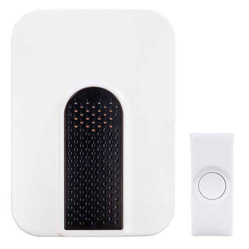 Wireless Plug-in Door Bell Kit with 1-Push Button