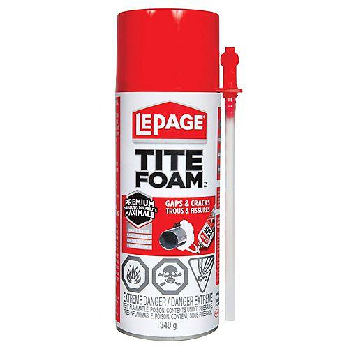 LePage Tite Foam Gaps & Cracks Gun Grade Insulating Foam Sealant 555g