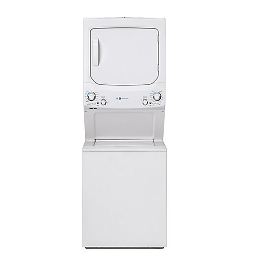 Unitized Apartment Size 27-inch Stacked Washer and Dryer Laundry Centre in White, ENERGY STAR