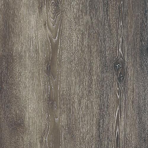Échantillon - Planche de lattes, vinyle de luxe, 5 po x 6 po, Chêne gris foncé
