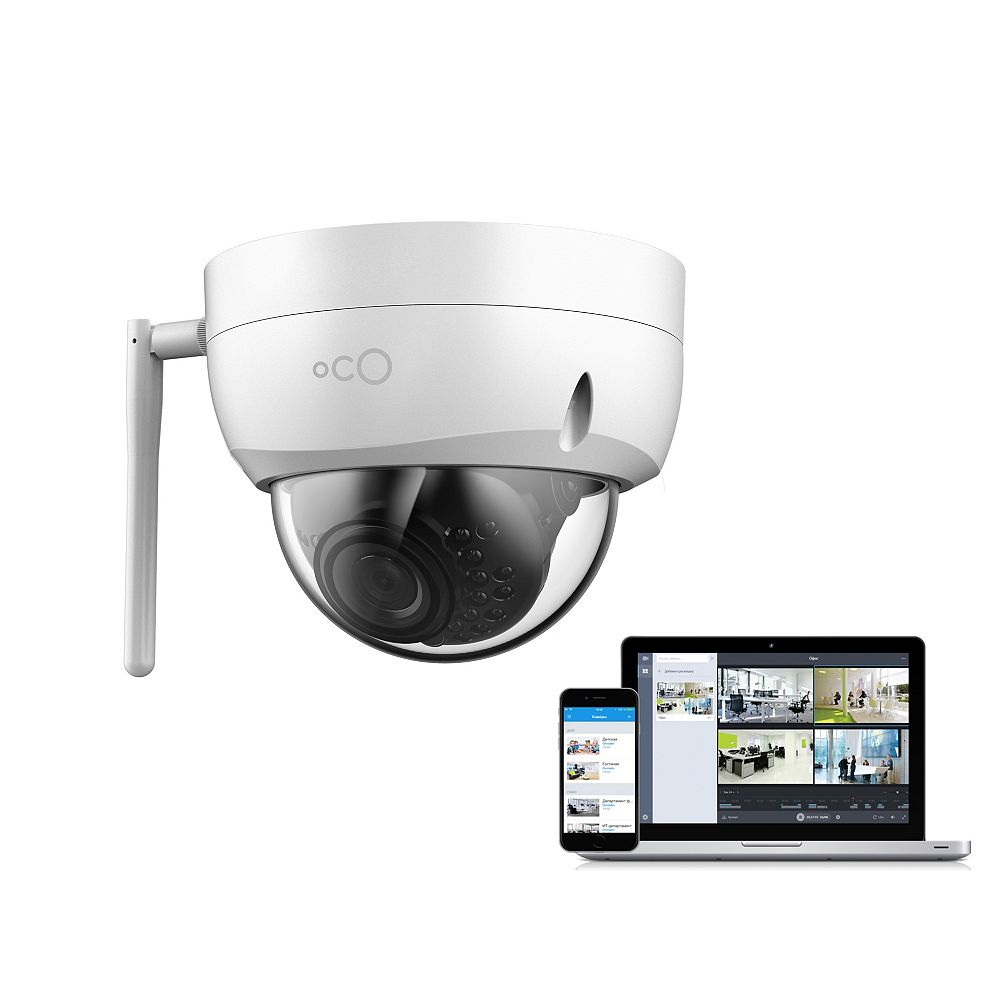 Oco Pro Dome 1080p HD Outdoor/Indoor Cloud Surveillance and Security Camera with SD Card / Cloud Storage