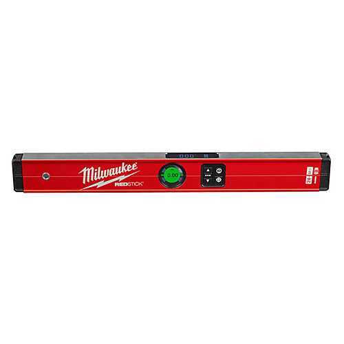 Niveau numérique REDSTICKMC de 24po avec technologie de mesure PINPOINTMC