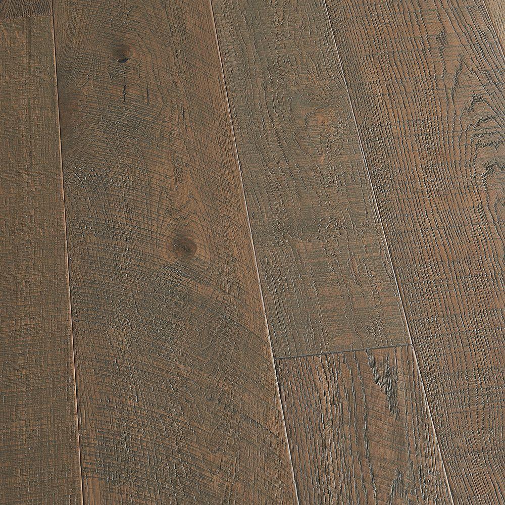 Malibu Wide Plank Plancher encliquet., bois d'ingén. 3/8 po x 4 po et 6 po x long. var., Chêne français Palisades, 19,84 pi2/boîte