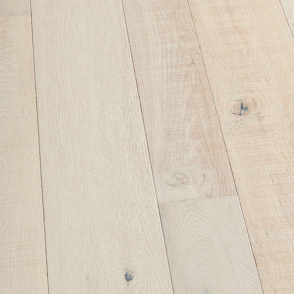 Malibu Wide Plank Plancher encliquet., bois d'ingén., 3/8 po x 4 po et 6 po x long. var., Chêne français Santa Monica, 19,84 pi2/boîte