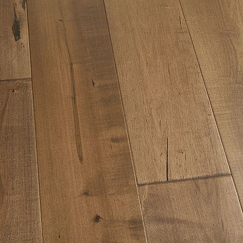 Plancher encliquetable, bois d'ingénierie, 3/8 po x 6,5 po x longeurs var., Érable Cardiff, 23,64 pi2/boîte