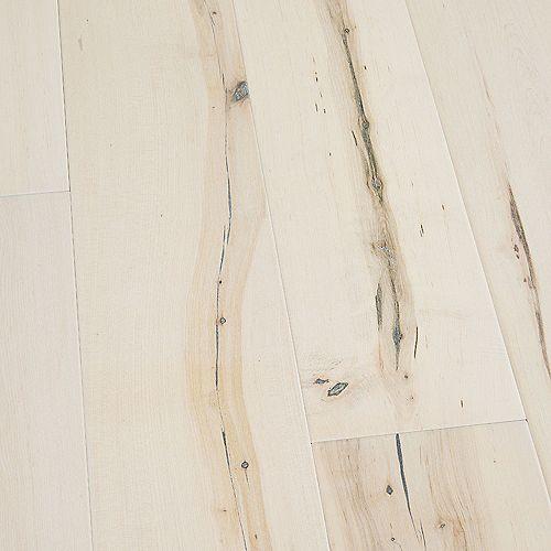 Plancher encliquetable, bois d'ingénierie, 3/8 po x 6,5 po x longeurs var., Érable Manhattan, 23,64 pi2/boîte