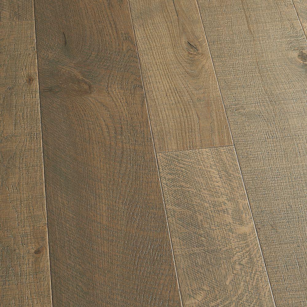 Malibu Wide Plank Plancher, bois d'ingénierie, 0,5 po x 5 po et 7 po x longeurs var., Chêne français Half Moon, 24,93 pi2/boîte