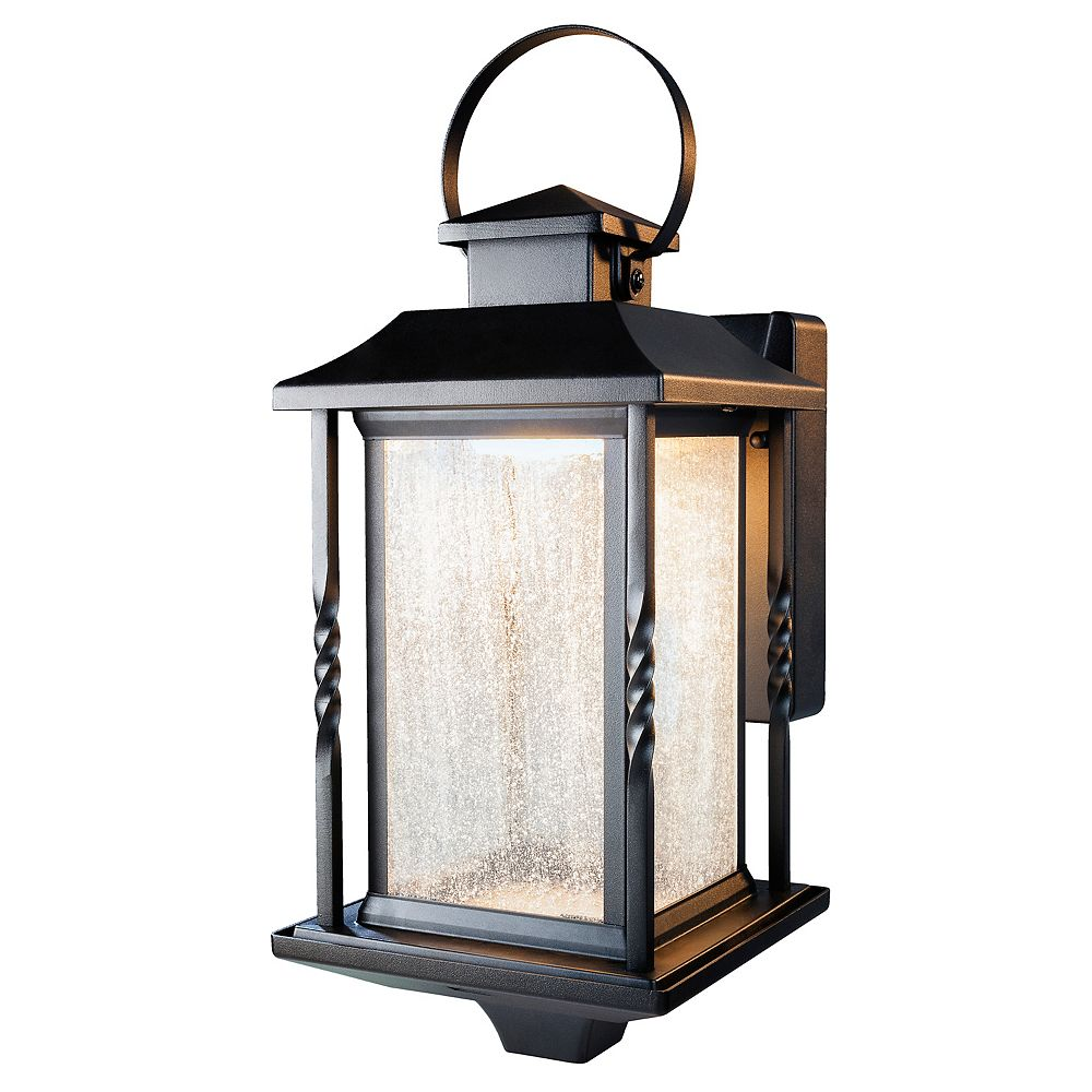 Heath Zenith Portable Black Outdoor Integrated Led Wall Lantern
