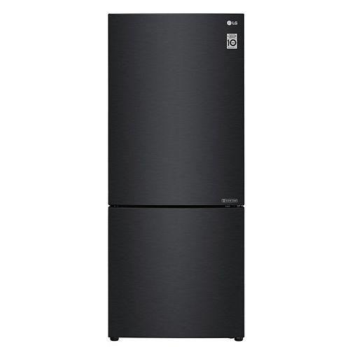 Réfrigérateur à congélateur inférieur de 28 pouces de largeur et 15 pieds cubes en noir mat, profondeur de comptoir